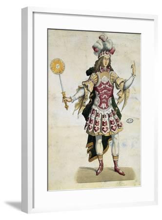 King Louis XIV in Ball Dress, France, 1660--Framed Giclee Print