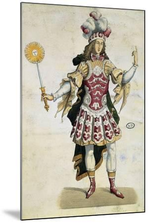 King Louis XIV in Ball Dress, France, 1660--Mounted Giclee Print