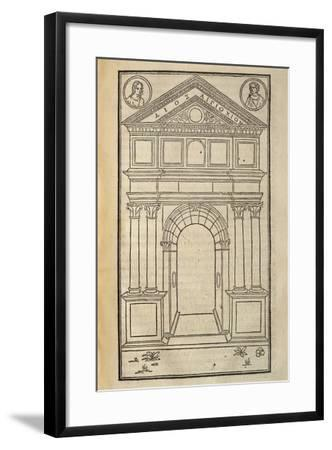 Hypnerotomachia Poliphili, Study for Arch, 1499--Framed Giclee Print