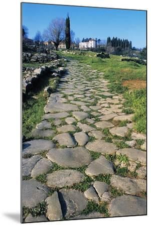 Section of Paved Road, Vetulonia Necropolis, Tuscany, Italy, Etrusco-Roman Civilization--Mounted Giclee Print
