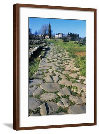 Section of Paved Road, Vetulonia Necropolis, Tuscany, Italy, Etrusco-Roman Civilization--Framed Giclee Print