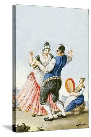 Neapolitan Tarantella, Italy--Stretched Canvas Print