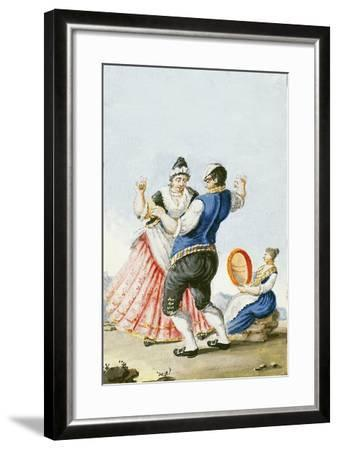 Neapolitan Tarantella, Italy--Framed Giclee Print