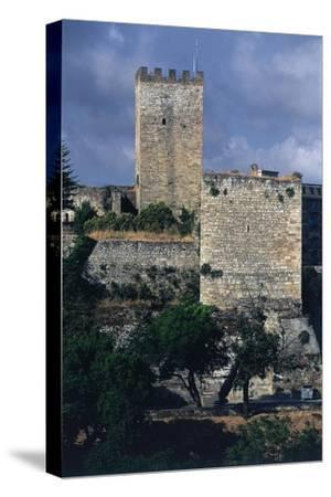 Italy, Sicily Region, Castello Di Lombardia, Enna--Stretched Canvas Print