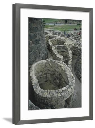 Italy, Sardinia Region, Medio Campidano Province, Barumini, Su Nuraxi Archeological Site--Framed Giclee Print