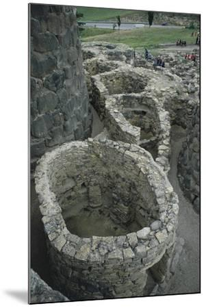 Italy, Sardinia Region, Medio Campidano Province, Barumini, Su Nuraxi Archeological Site--Mounted Giclee Print