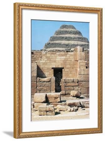 Egypt, Cairo, Saqqara Necropolis Funerary Monument to King Zoser, 'Step Pyramid', Entrance--Framed Giclee Print