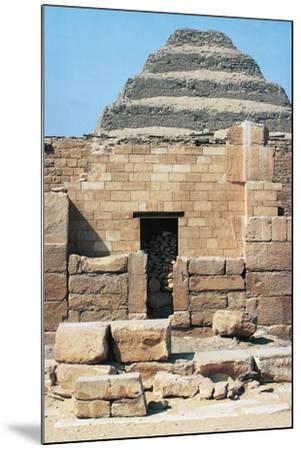 Egypt, Cairo, Saqqara Necropolis Funerary Monument to King Zoser, 'Step Pyramid', Entrance--Mounted Giclee Print