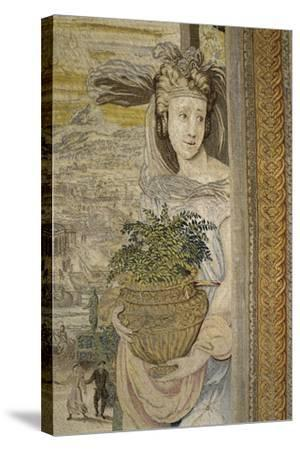 The Spring Season, 16th Century Tapestry Woven--Stretched Canvas Print