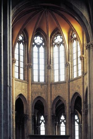 Gothic Apse, Basilica of St Lawrence, Naples, Campania, Italy--Framed Giclee Print