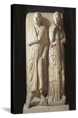 Italy, Rome, Statilia, Funerary Stele--Stretched Canvas Print