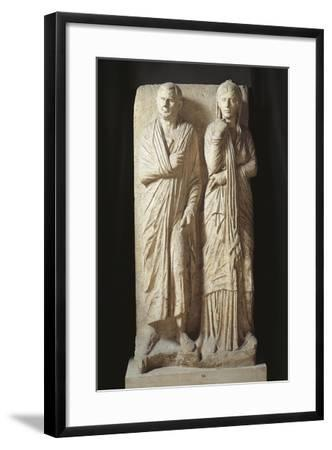 Italy, Rome, Statilia, Funerary Stele--Framed Giclee Print