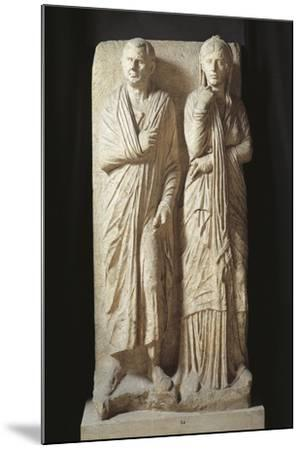 Italy, Rome, Statilia, Funerary Stele--Mounted Giclee Print