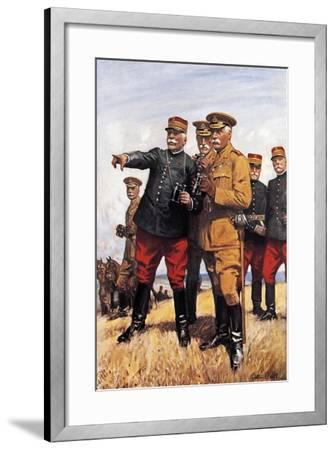 Marshal Joffre and His Chiefs of Staff--Framed Giclee Print