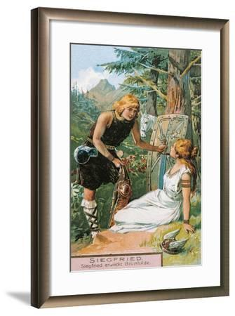 Siegfried and Brunnhilde, Characters from Siegfried by Richard Wagner--Framed Giclee Print