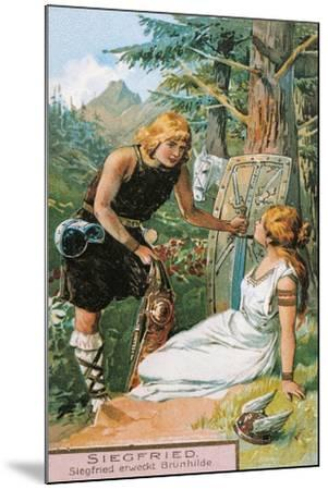 Siegfried and Brunnhilde, Characters from Siegfried by Richard Wagner--Mounted Giclee Print