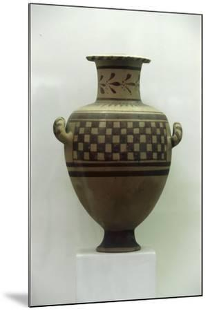 Egypt, Alexandria, Hydria with Geometrical Patterns, Baked Clay--Mounted Giclee Print