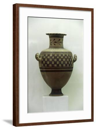 Egypt, Alexandria, Hydria with Geometrical Patterns, Baked Clay--Framed Giclee Print