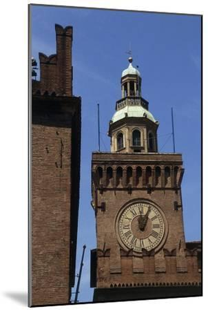 Clock Tower, Detail from Accursio Palace, Bologna, Emilia-Romagna, Italy--Mounted Giclee Print