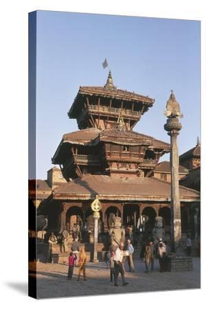Nepal, Kathmandu Valley, Bhaktapur, Temple of Dattatreya--Stretched Canvas Print