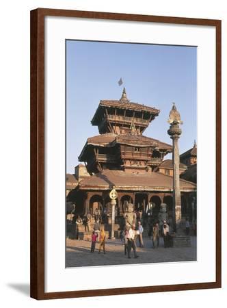 Nepal, Kathmandu Valley, Bhaktapur, Temple of Dattatreya--Framed Giclee Print