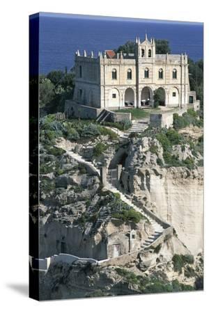 Sanctuary of Santa Maria of Island, Tropea, Calabria, Italy--Stretched Canvas Print