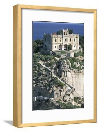 Sanctuary of Santa Maria of Island, Tropea, Calabria, Italy--Framed Giclee Print