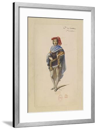 France, Paris, Costume Sketch for Count Di Luna in the Troubadour--Framed Giclee Print