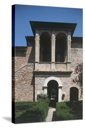 16th Century Loggia, House of Francesco Petrarca, Arqua Petrarca, Veneto, Italy--Stretched Canvas Print
