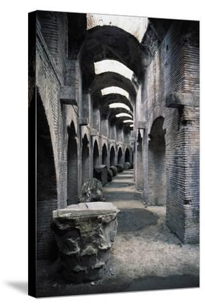 Underground Passageways of Flavian Amphitheatre, Pozzuoli, Campania, Italy--Stretched Canvas Print