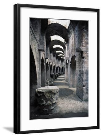 Underground Passageways of Flavian Amphitheatre, Pozzuoli, Campania, Italy--Framed Giclee Print