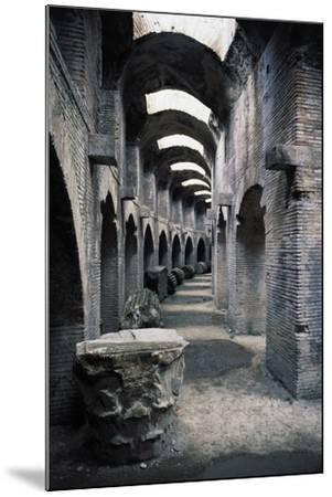 Underground Passageways of Flavian Amphitheatre, Pozzuoli, Campania, Italy--Mounted Giclee Print
