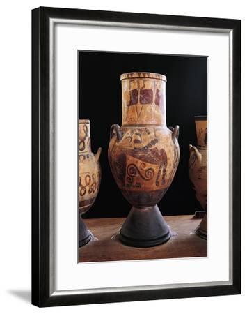 Greek Civilization, Amphoras, from Eretria, Greece--Framed Giclee Print