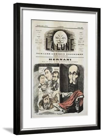 Caricature for Hernani by Victor-Marie Hugo, Cover of La Lune--Framed Giclee Print