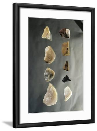 Hungary, Budapest, Magyar Nemzeti Muzeum, Peceler Culture, Stone Tools From, Vertes Szoelles--Framed Giclee Print
