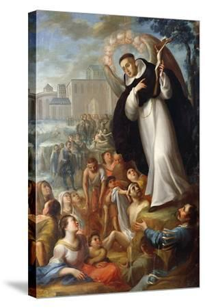 St Vincent Ferrer Speaks of Christ to Pagans. Mexico--Stretched Canvas Print