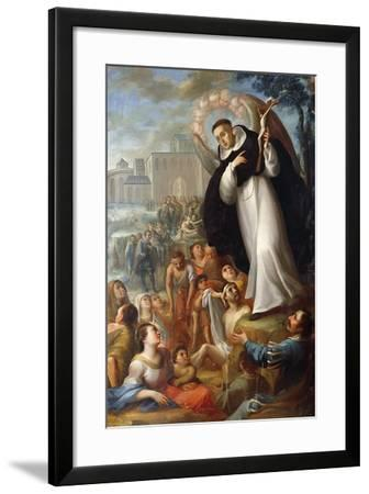 St Vincent Ferrer Speaks of Christ to Pagans. Mexico--Framed Giclee Print