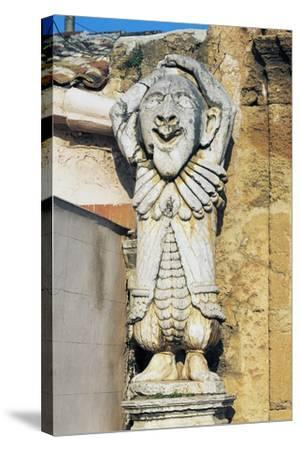 Grotesque Figures at Entrance to Park of Villa Palagonia, Bagheria, Sicily, Italy--Stretched Canvas Print