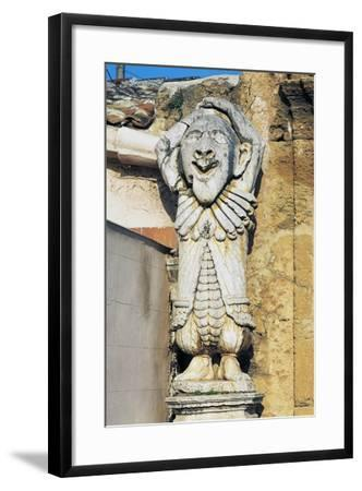 Grotesque Figures at Entrance to Park of Villa Palagonia, Bagheria, Sicily, Italy--Framed Giclee Print