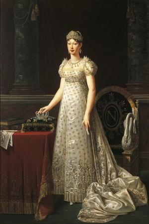 Italy, Parma, Portrait of Marie Louise of Austria, Duchess of Parma, Piacenza and Guastalla--Framed Giclee Print