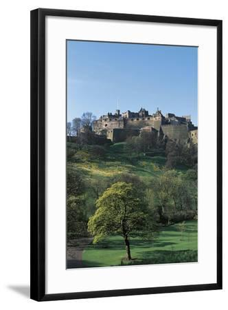 UK, Scotland, Edinburgh, Castle and Princes Street Gardens--Framed Giclee Print