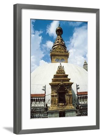 Nepal, Kathmandu District, Kathmandu, Temple of Swayambhunath--Framed Giclee Print