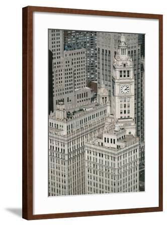 Downtown as Seen from Leo Burnett Building, Chicago, Illinois, USA--Framed Giclee Print