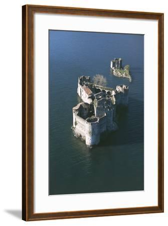 Italy, Piedmont Region, Castle Vitaliana of Cannero Riviera, Aerial View--Framed Giclee Print