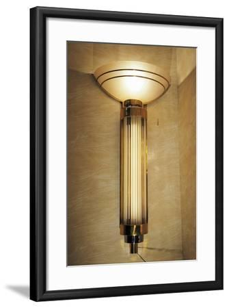 Glass Wall Lamps from the Lido Theatre in Paris, Ca 1920, France--Framed Giclee Print