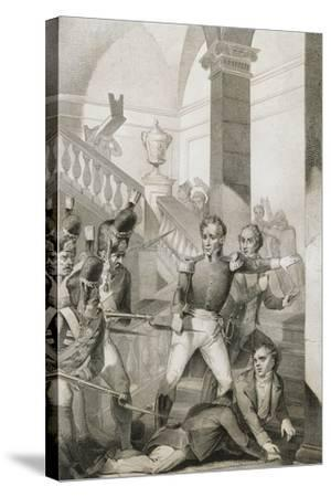 Students Revolt at University of Turin, 1821, Unification Era, Italy--Stretched Canvas Print
