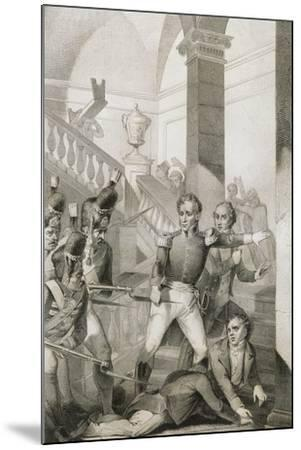 Students Revolt at University of Turin, 1821, Unification Era, Italy--Mounted Giclee Print