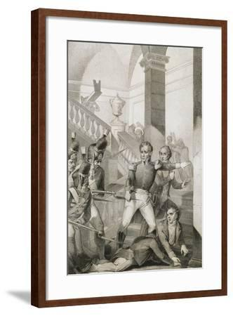 Students Revolt at University of Turin, 1821, Unification Era, Italy--Framed Giclee Print