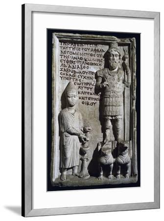 Relief with Inscription and Depiction of God Aphlad from Damascus, Syria--Framed Giclee Print