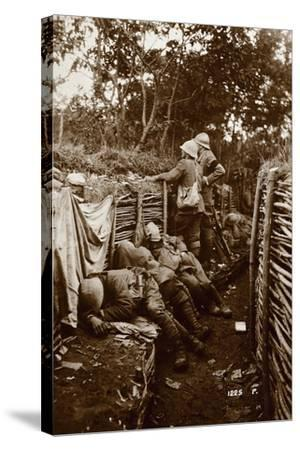 Soldiers in Trenches, World War I, Italy--Stretched Canvas Print